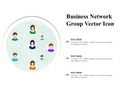 Business Network Group Vector Icon Ppt PowerPoint Presentation Portfolio