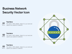 Business Network Security Vector Icon Ppt PowerPoint Presentation File Layouts PDF