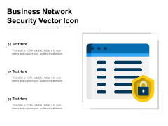 Business Network Security Vector Icon Ppt PowerPoint Presentation Gallery Examples PDF