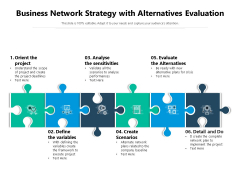 Business Network Strategy With Alternatives Evaluation Ppt PowerPoint Presentation File Outfit PDF