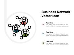 Business Network Vector Icon Ppt PowerPoint Presentation File Design Templates