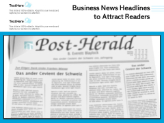Business News Headlines To Attract Readers Ppt PowerPoint Presentation Portfolio Graphic Images PDF