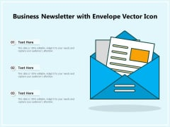 Business Newsletter With Envelope Vector Icon Ppt PowerPoint Presentation File Templates PDF