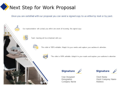 Business Next Step For Work Proposal Ppt Icon Guide PDF