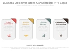 Business Objectives Brand Consideration Ppt Slides