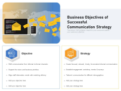 Business Objectives Of Successful Communication Strategy Ppt PowerPoint Presentation Gallery Design Ideas PDF