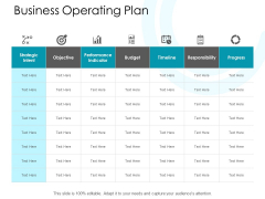 Business Operating Plan Ppt PowerPoint Presentation Show Files
