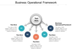 Business Operational Framework Ppt PowerPoint Presentation Pictures Slide Portrait Cpb
