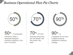 Business Operational Plan Pie Charts Ppt PowerPoint Presentation Templates