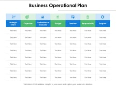 Business Operational Plan Ppt PowerPoint Presentation Layouts Clipart