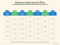 Business Operational Plan Ppt PowerPoint Presentation Show Deck