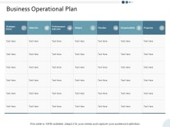 Business Operational Plan Yearly Operating Plan Ppt PowerPoint Presentation Model Visual Aids