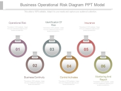 Business Operational Risk Diagram Ppt Model