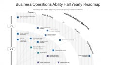 Business Operations Ability Half Yearly Roadmap Infographics