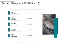 Business Operations Assessment Business Management Kpis Metrics Customers Ppt Infographics Elements PDF