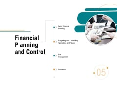 Business Operations Assessment Financial Planning And Control Ppt Summary Information PDF