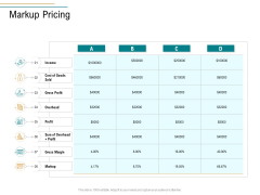 Business Operations Assessment Markup Pricing Template PDF