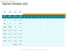 Business Operations Assessment Payment Schedule Rent Ppt Model Slide PDF
