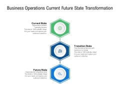 Business Operations Current Future State Transformation Ppt PowerPoint Presentation Layouts Shapes PDF