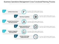 Business Operations Management Cross Functional Planning Process Ppt Powerpoint Presentation Ideas Layout Ideas