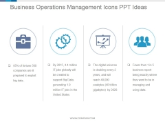 Business Operations Management Icons Ppt PowerPoint Presentation Template