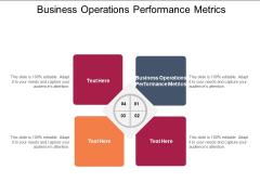 Business Operations Performance Metrics Ppt PowerPoint Presentation Ideas Gallery Cpb Pdf