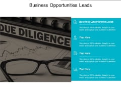 Business Opportunities Leads Ppt Powerpoint Presentation Inspiration Visuals Cpb