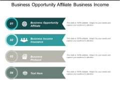 Business Opportunity Affiliate Business Income Insurance Business Protocol Ppt PowerPoint Presentation Infographics Examples