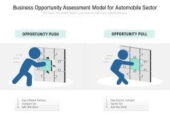 Business Opportunity Assessment Model For Automobile Sector Ppt PowerPoint Presentation Gallery Samples PDF