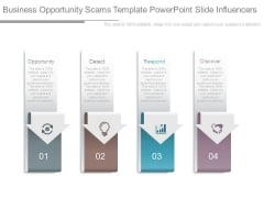 Business Opportunity Scams Template Powerpoint Slide Influencers