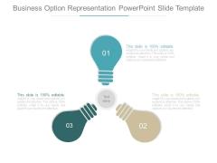 Business Option Representation Powerpoint Slide Template