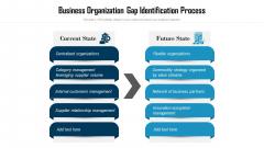 Business Organization Gap Identification Process Ppt Infographic Template Samples PDF