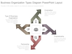 Business Organization Types Diagram Powerpoint Layout
