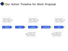 Business Our Action Timeline For Work Proposal Ppt Infographic Template Design Ideas PDF