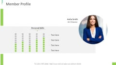 Business Overview PPT Slides Member Profile Ppt Layouts Pictures PDF