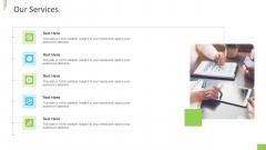 Business Overview PPT Slides Our Services Ppt Slides Clipart Images PDF