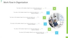 Business Overview PPT Slides Work Flow In Organization Ppt Gallery Portrait PDF