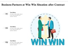Business Partners At Win Win Situation After Contract Ppt PowerPoint Presentation Show Introduction PDF
