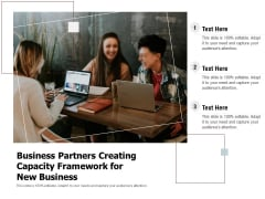 Business Partners Creating Capacity Framework For New Business Ppt PowerPoint Presentation Gallery Example File PDF