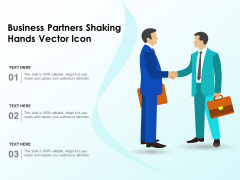 Business Partners Shaking Hands Vector Icon Ppt PowerPoint Presentation File Influencers PDF
