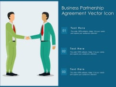 Business Partnership Agreement Vector Icon Ppt PowerPoint Presentation Gallery Clipart Images PDF