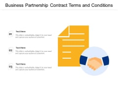 Business Partnership Contract Terms And Conditions Ppt PowerPoint Presentation Gallery Example PDF