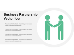 Business Partnership Vector Icon Ppt PowerPoint Presentation Show Sample