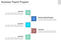 Business Payroll Program Ppt Powerpoint Presentation Show Clipart Cpb