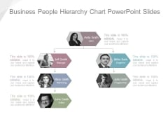 Business People Hierarchy Chart Powerpoint Slides