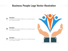 Business People Logo Vector Illustration Ppt PowerPoint Presentation Icon Pictures PDF