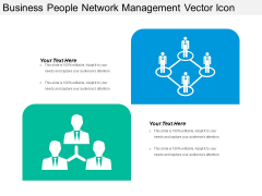 Business People Network Management Vector Icon Ppt PowerPoint Presentation Gallery Deck PDF