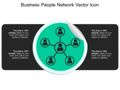 Business People Network Vector Icon Ppt PowerPoint Presentation Gallery Graphics Template PDF