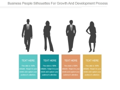 Business People Silhouettes For Growth And Development Process Ppt PowerPoint Presentation Graphics