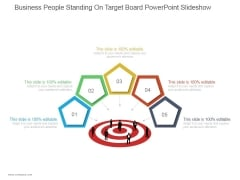 Business People Standing On Target Board Ppt PowerPoint Presentation Shapes